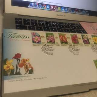 Stamp First Day Dover Malaysia Flower