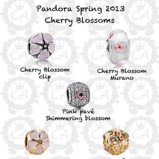 PANDORA SPRING 2013 Pink Pave Shimmering Blossom