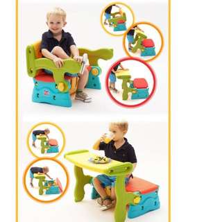 Colorful Convertible Foldable Table Stool Bench Worth Toy Storage Compartment Box (living Room , Bed Room , Household , Toilet, Mum , Parents, kids, children, toddler, Infant , Study Table , Dining Chair, Baby Chair , Birthday, Storage  )
