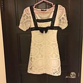 Lazy Daisy 日本帶回白色洋裝