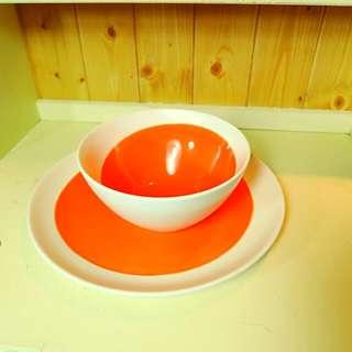 免運費 - 美國鄉村陶瓷碗盤組/沙拉碗/水果碗 /點心碗  Zakka  IKEA