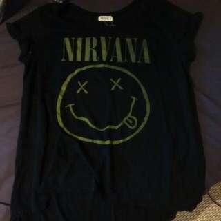 Nirvana High Low T-shirt