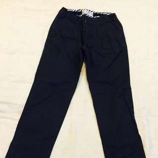 Zara Dark Navy Straight Pants For Girl