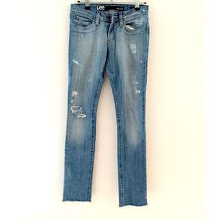 Lee Supatube Torn Denim Jeans Size 6