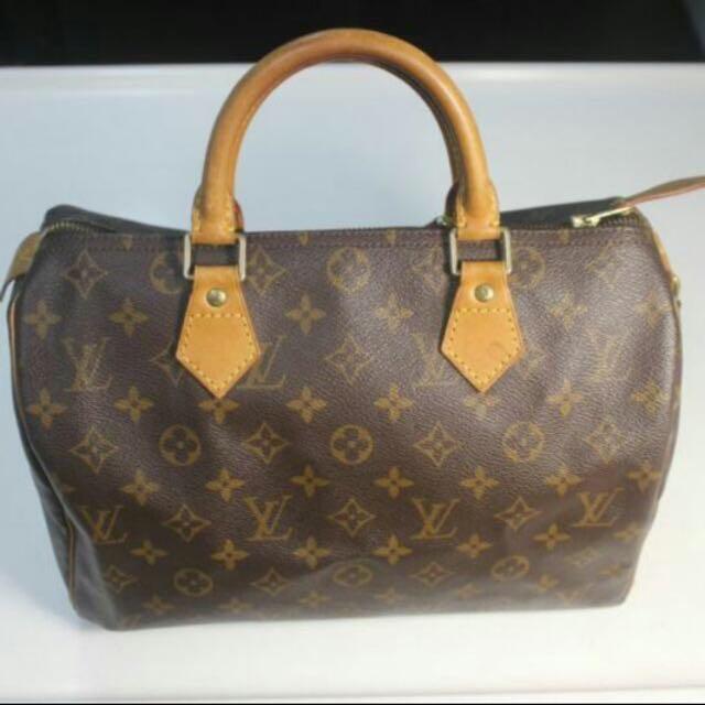 c081410b6ee3 100% Authentic Louis Vuitton Monogram Canvas Speedy 30 LV (original ...