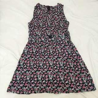 H&M Floral Cut Out Dress