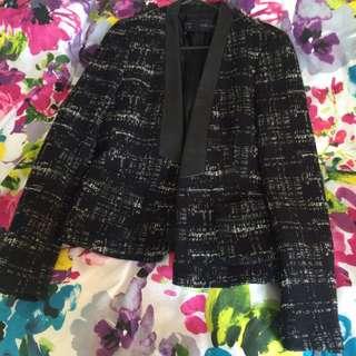 Zara Basic Tweed Blazer