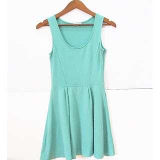 PULL & BEAR Turquoise Dress