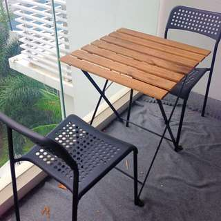 [RSRVD] Outdoor cafe table with 2 chairs IKEA