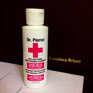Piercing cleanser