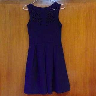 Dark Blue Party Cocktail Dress