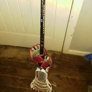 Brine Lacrosse Stick And Gloves