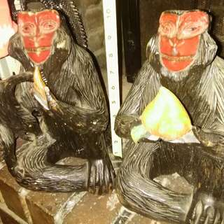 Pair Of Monkey Statues