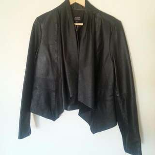 Genuine Buttersoft Leather Waterfall Jacket, New. RRP$200