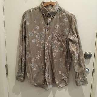 Khaki Floral Shirt