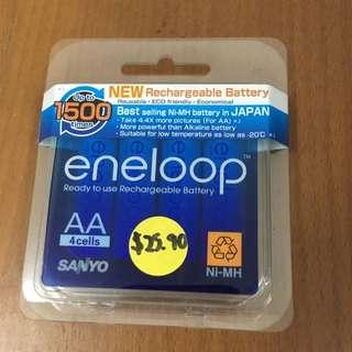 Sanyo Eneloop 4cell blister BNIB