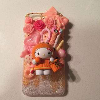 hand design casing iphone 6/6S w/ hello kitty