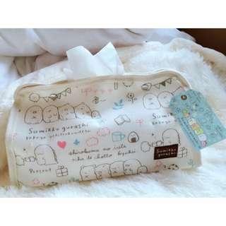 日本正版角落小夥伴角落生物棉質立體面紙套