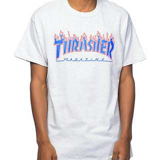Thrasher Patriot Flame Mag Tee Size M Ash Grey