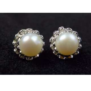 Fresh Water Genuine Pearl 925 Silver Stud Earring