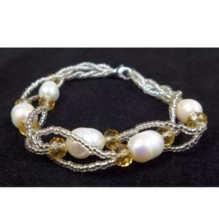 Freshwater Pearl Bracelet With Beads