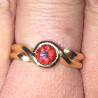 18ct yellow Garnet Ring