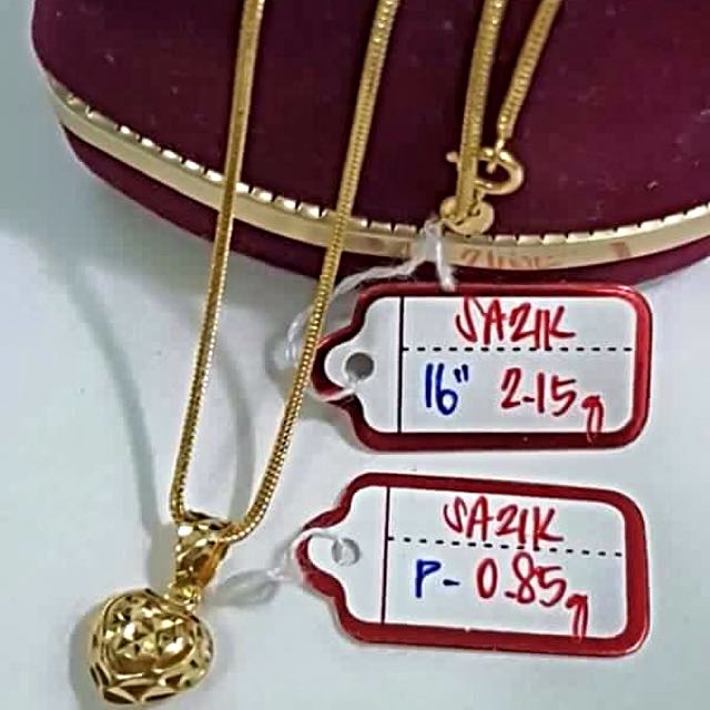 21K Real Gold Necklace Bargain Price