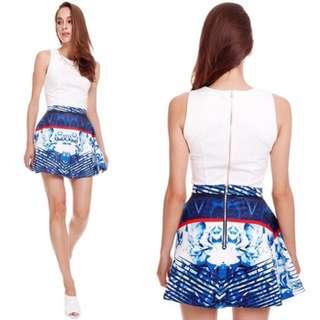 Mdscollections Mystique Blue Skirt Small