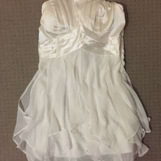 White Strapless Dress From ICE