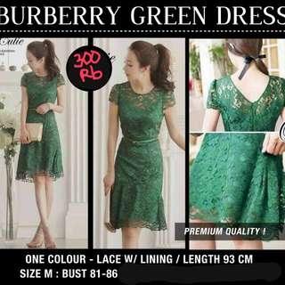Burberry Green Dress