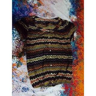 Naf Naf Aztec Print Top