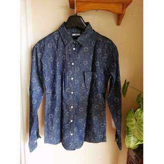 Uniqlo Patterned Denim Shirt