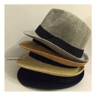 夏天必備 蝴蝶結款 卷邊短帽簷 編織帽 草帽 遮陽 防曬 海灘出遊 現貨