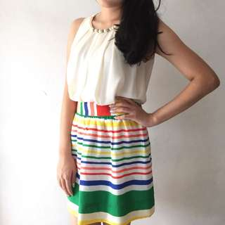 Colourful Flare Skirt