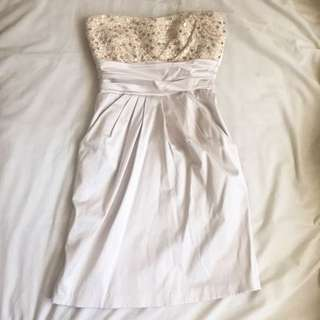 Creme sequinned dress (xs-s)