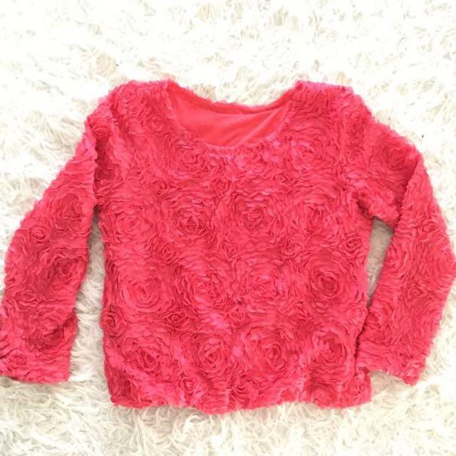 3D Rose Sweater