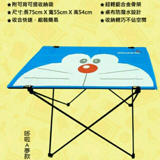 (含運現貨)7-11 哆啦a夢限量野餐折疊桌