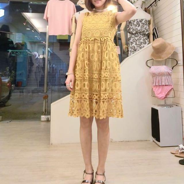 正韓超美提花洋裝
