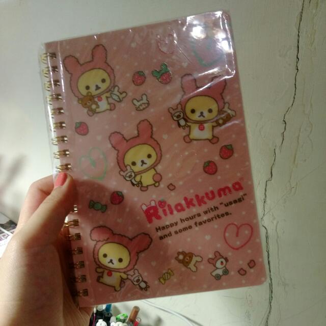 懶熊妹橫條筆記本