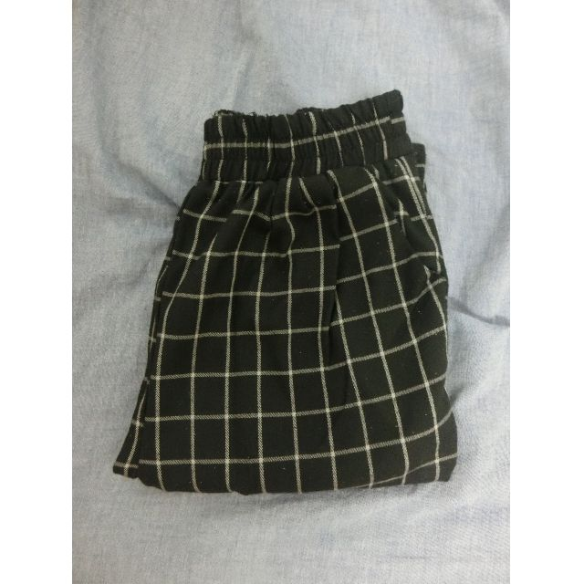 格子美式褲