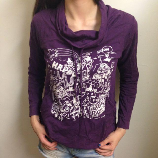 紫色 長袖