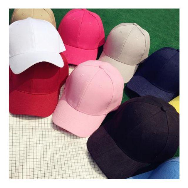 素色挺板厚磅鴨舌彎簷帽 遮陽帽 棒球帽 現貨