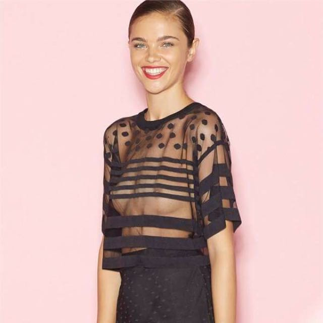 Alice McCall Black Orchid Top