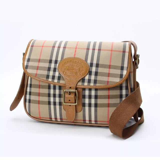 Authentic Burberry Check Cross Body Bag