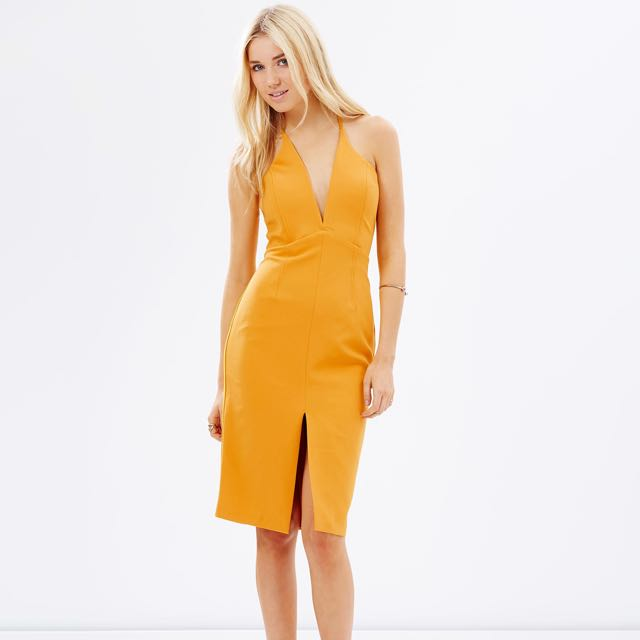 Bardot Jenner Dress (colour: saffron)