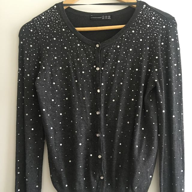 Cardigan With Diamanté Detail Brand New