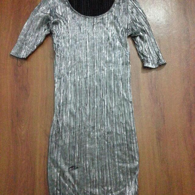 Dress Silver Metalic