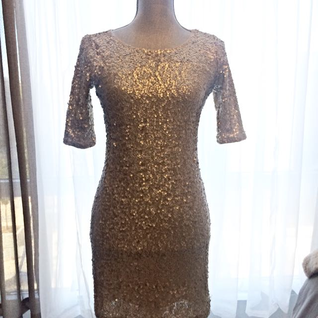 Gold Sequins Dress