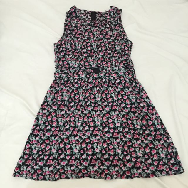 H&M Floral Cut Out Dress