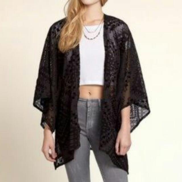 *Reserved* Black Kimono Top